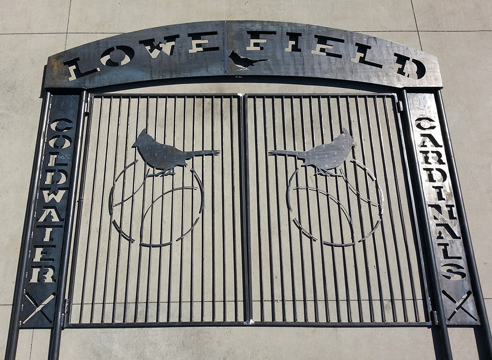 Coldwater Cardinals entry gate for Lowe Field