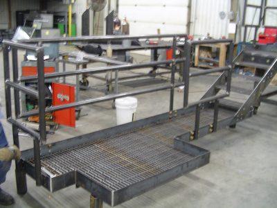 Custom Fabricated Platform with Handrail