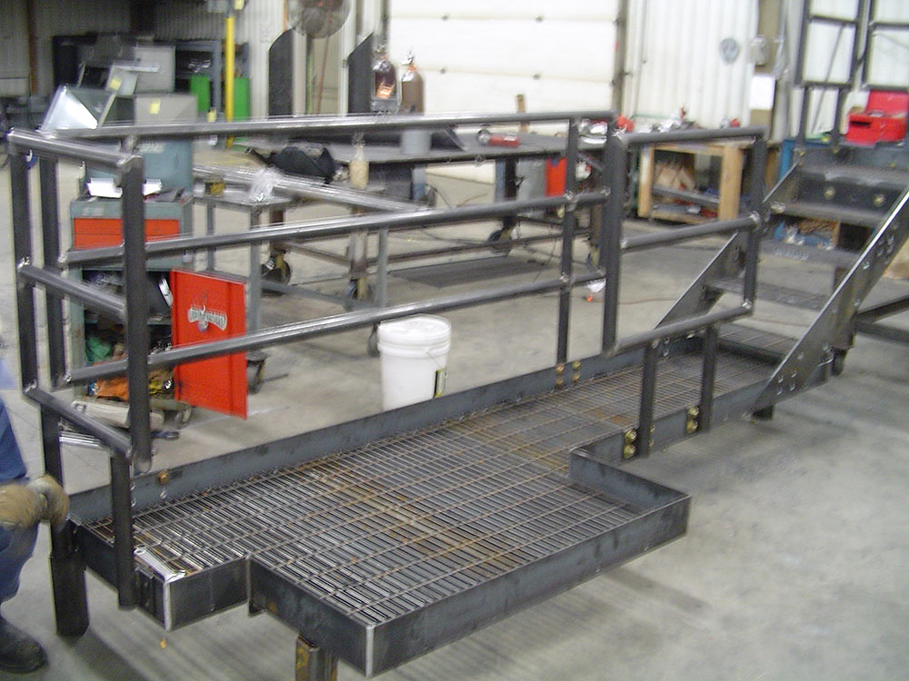 Custom Fabricated Platform with Handrail