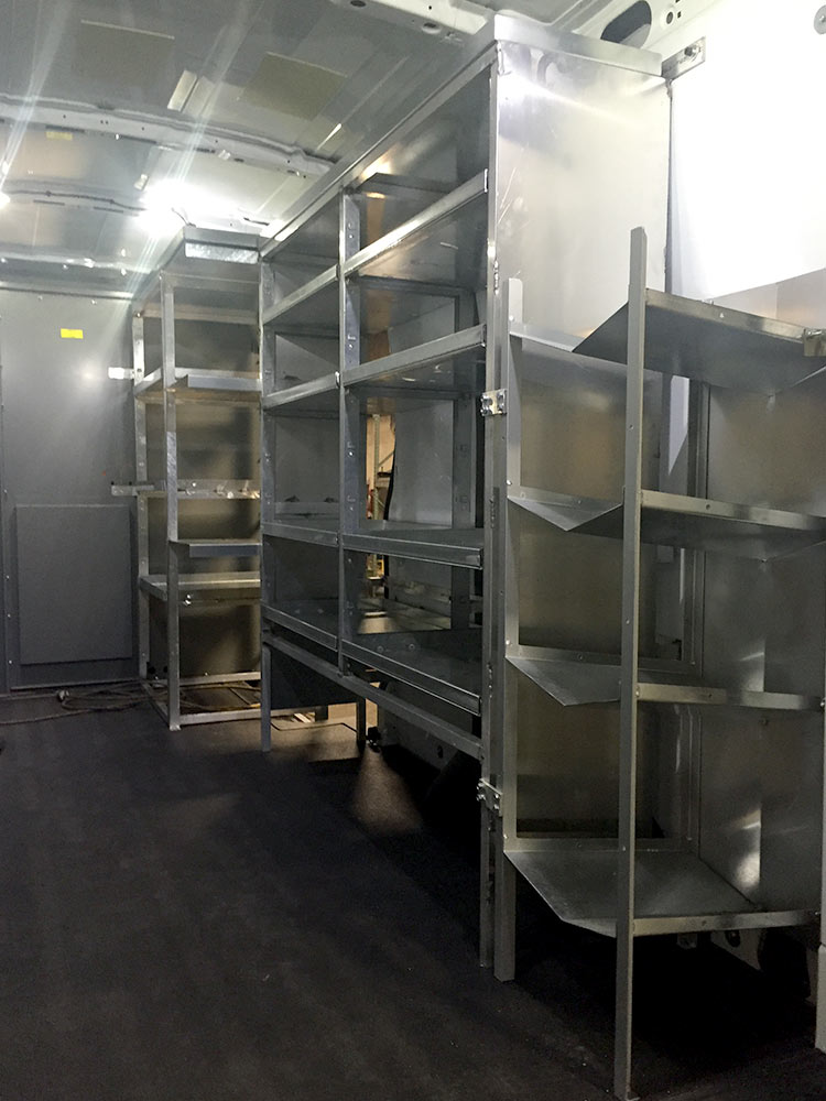 Custom Van Shelving