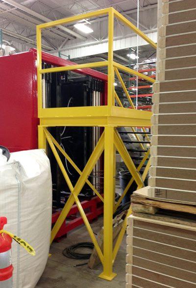Custom Fabricated Platform & Handrail
