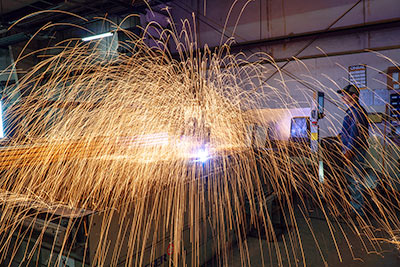 Plasma Arc Cutter Throwing Sparks