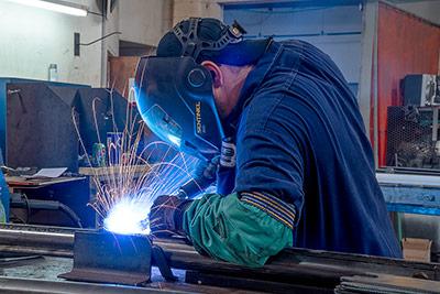 Indiana Welder at Work